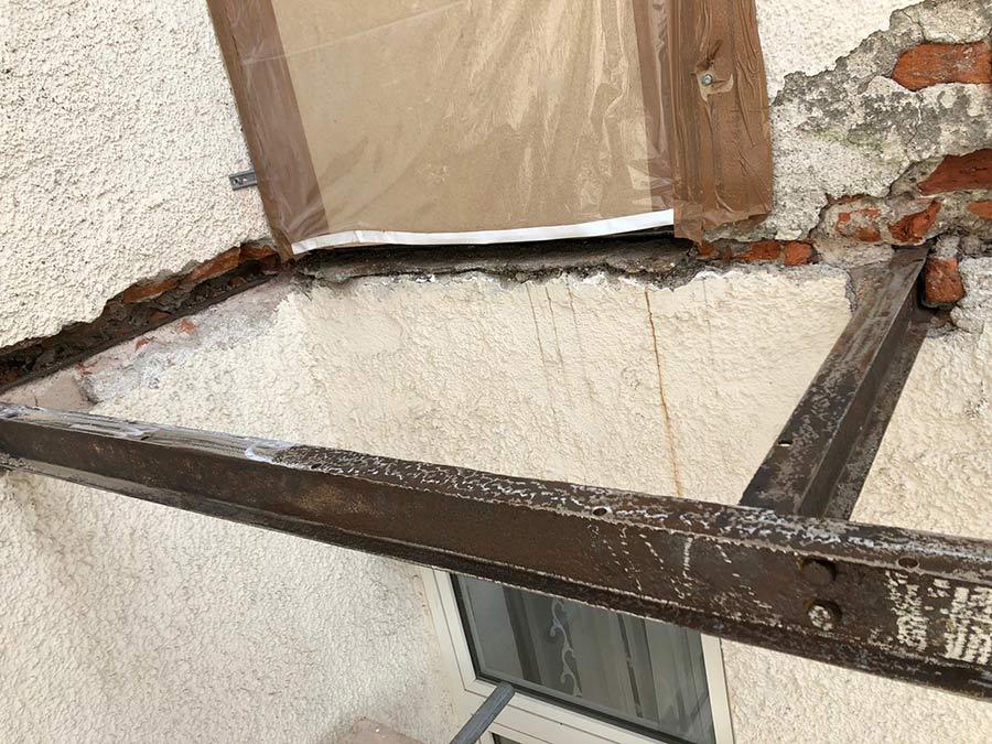 Balkonsanierung - Stahlkonstruktion alter Balkon